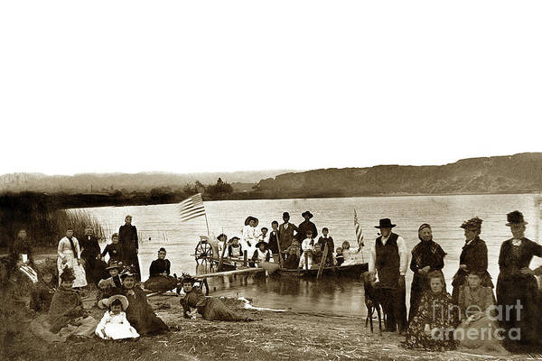 Photograph - Roberts Lake, 4th Of July Seaside, California 1895  by California Views Archives Mr Pat Hathaway Archives