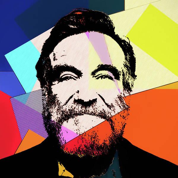 Wall Art - Mixed Media - Robin Williams Pop Art by Dan Sproul