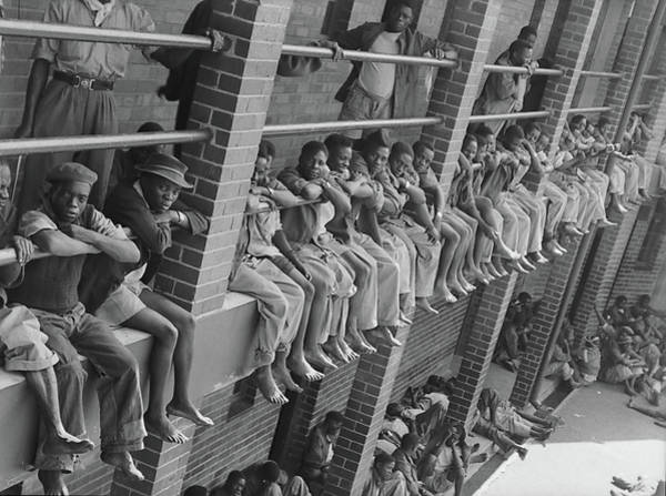 Miners Photograph - Robinson Deep Mine Compound by Margaret Bourke-white