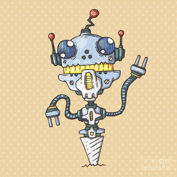 Wall Art - Digital Art - Robot-drill by Andrew Derr