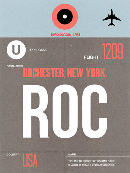Wall Art - Digital Art - Roc Rochester Luggage Tag II by Naxart Studio