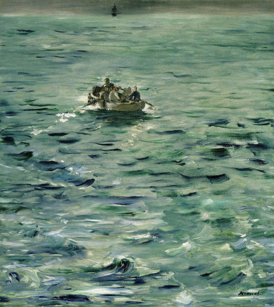 Manet Wall Art - Painting - Rochefort's Escape - Digital Remastered Edition by Edouard Manet