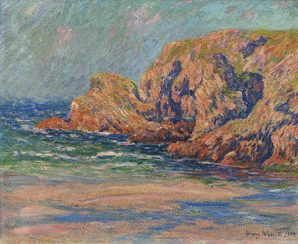 Painting - Rochers A Belle-ille, Rochers Le Pont Donnant by Henry Moret