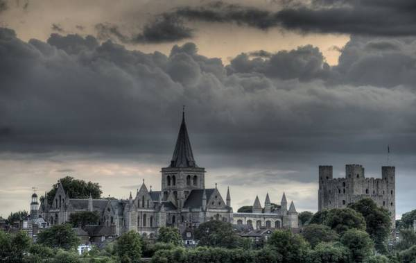 Rochester Photograph - Rochester Castle And Cathedral by Medwayboy