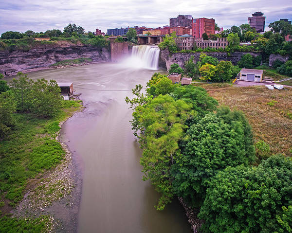 Photograph - Rochester Ny High Falls Waterfall Smooth Water by Toby McGuire