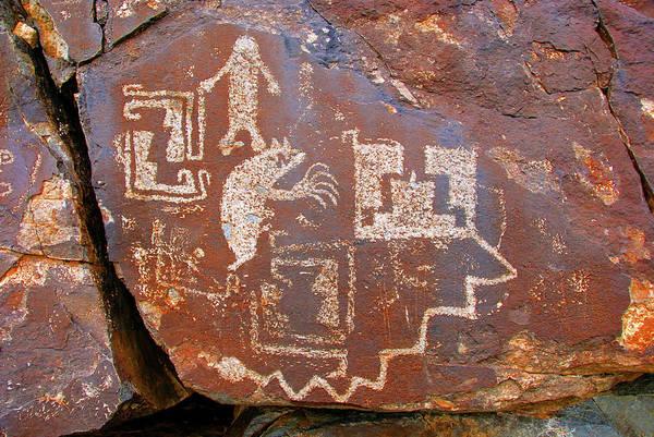 Wall Art - Photograph - Rock Art At Galisteo New Mexico by David Lee Thompson