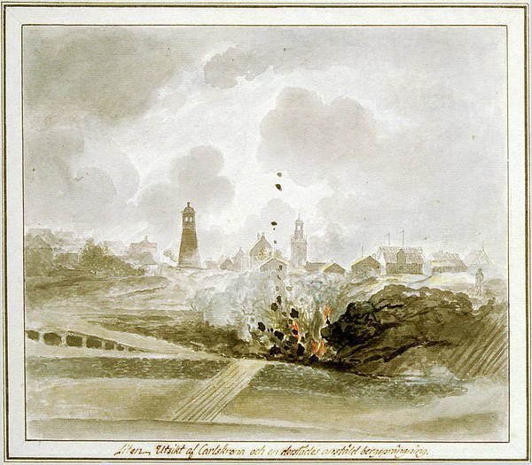 Painting - Rock Blasting In Karlskrona, Blekinge, Sweden   Watercolour By Elias Martin, From 1780-1800. by Elias Martin