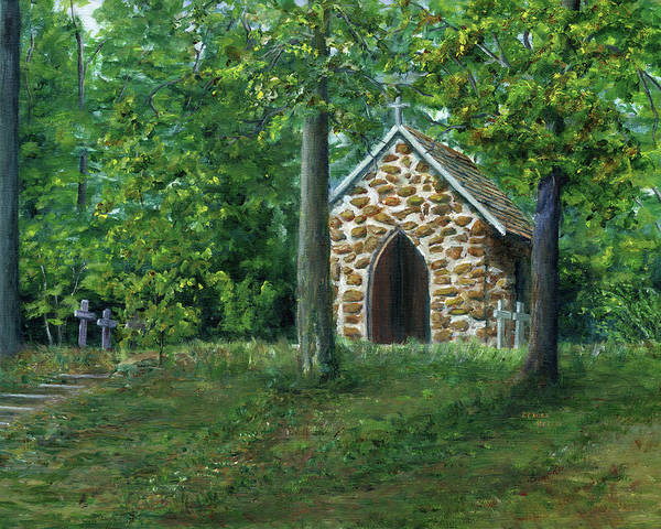 Painting - Rock Chapel Near Mansfield, Louisiana by Lenora De Lude