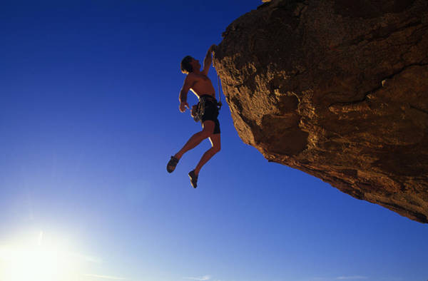 Hanging Rock Photograph - Rock Climber by Greg Epperson