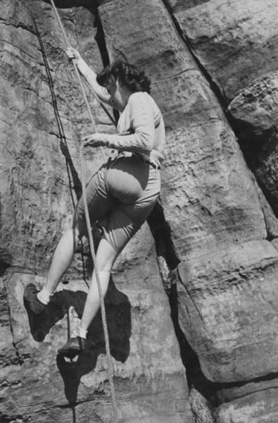 Climbing Photograph - Rock Climbing by Merlyn Severn