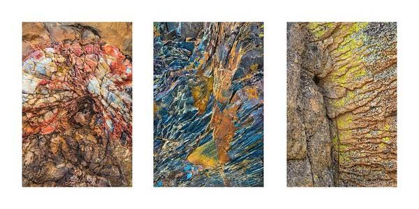 Photograph - Rock Collage Triptych by Alexander Kunz