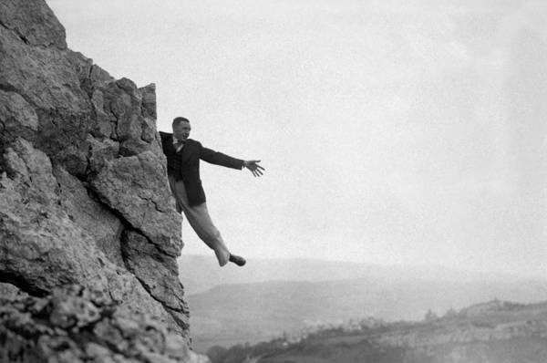 Danger Photograph - Rock Face Danger by Hulton Archive