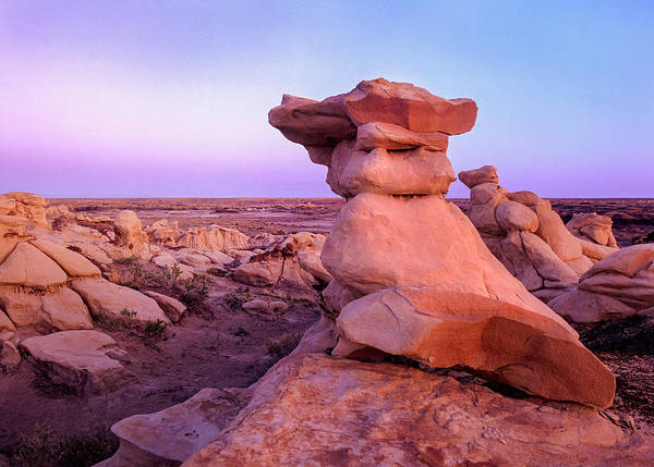 Photograph - Rock Formations, Bisti Badlands, New by Tim Fitzharris