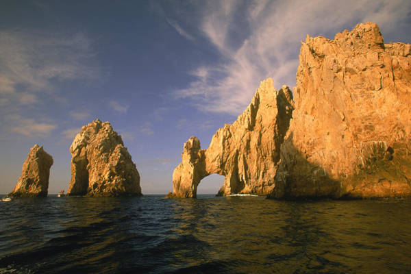 Cabo San Lucas Arch Wall Art - Photograph - Rock Formations, Cabo San Lucas, Mexico by Walter Bibikow