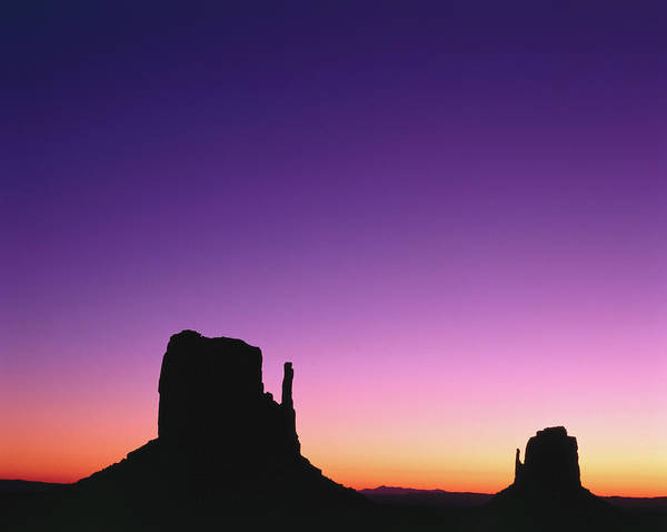 Purple Haze Photograph - Rock Formations In Sunset, Monument by Adina Tovy