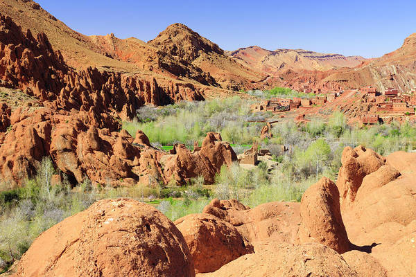 Geology Photograph - Rock Formations In The Dades Gorge by Frank Lukasseck