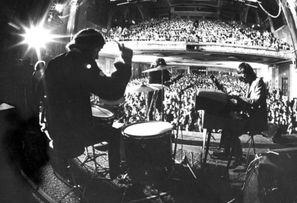 Rock Music Photograph - Rock Group The Doors Performing At The F by Yale Joel