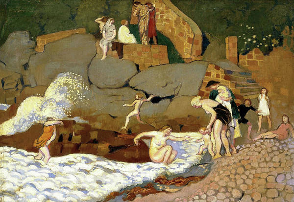 Wall Art - Painting - Rock Of Trestrignel - Digital Remastered Edition by Maurice Denis
