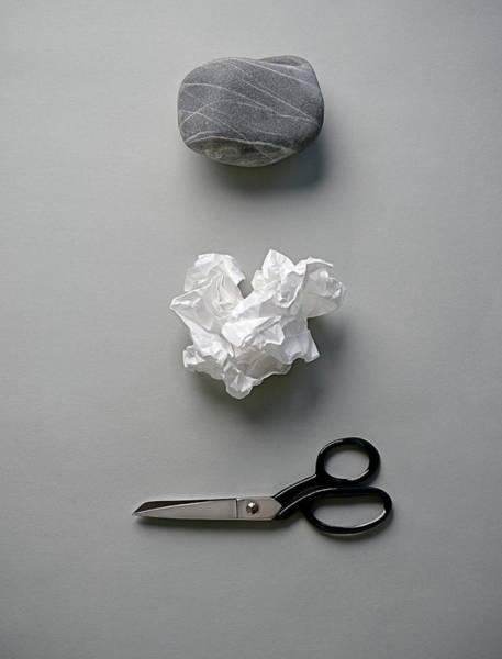 Wall Art - Photograph - Rock, Paper & Scissors by David Malan