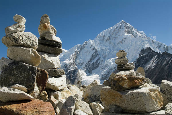 Nepal Wall Art - Photograph - Rock Piles In The Himalayas by Shanna Baker