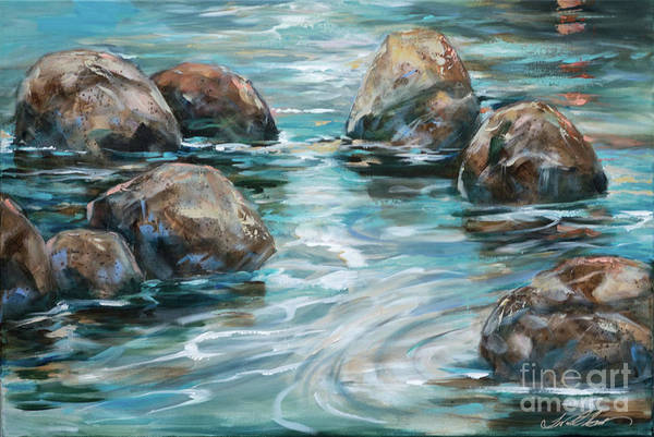 Painting - Rock Reflections by Linda Olsen