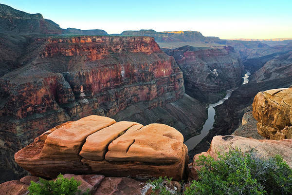 North Rim Photograph - Rock Table At Toroweap by Donald E. Hall