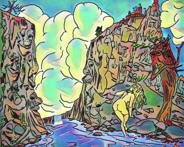 Wall Art - Digital Art - Rock Watchers by John Haldane