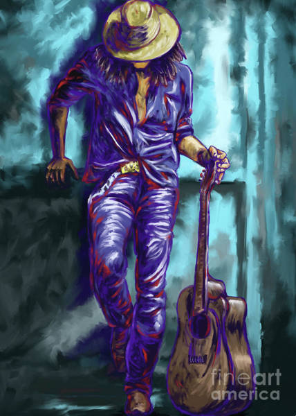 Rocker Painting - Rocker On The Wall by Tim Gilliland