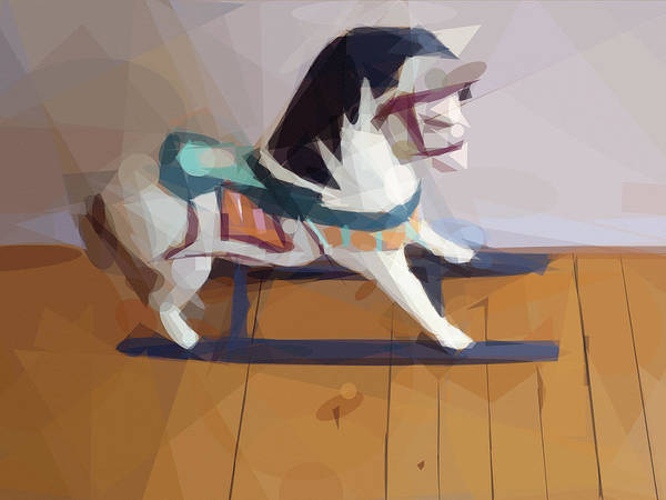 Mixed Media - Rocking Horse Graphic by Lutz Baar