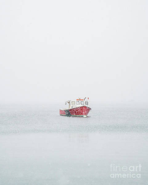 Lobstering Photograph - Rockland Boat In The Snow by Benjamin Williamson
