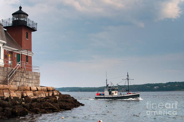 Wall Art - Photograph - Rockland Breakwater Lighthouse Guards by Allan Wood Photography