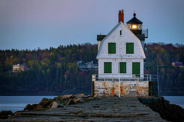 Wall Art - Photograph - Rockland Breakwater Lighthouse by Rick Berk