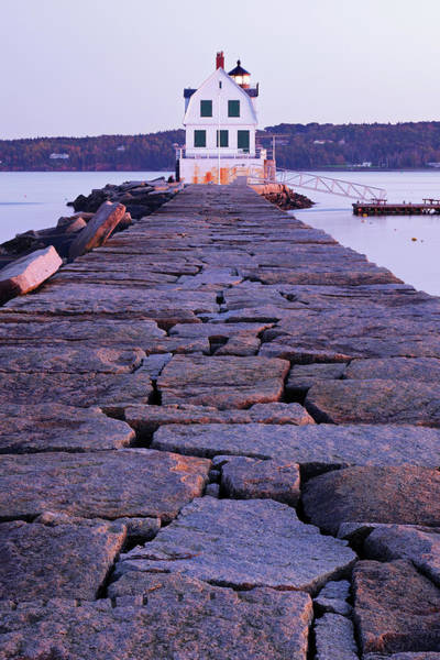 Waters Edge Wall Art - Photograph - Rockland Breakwater Lighthouse by S. Greg Panosian