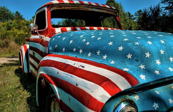 Usa Flag Photograph - Rockland, Maine, Usa by Latitudestock - Bill Bachmann