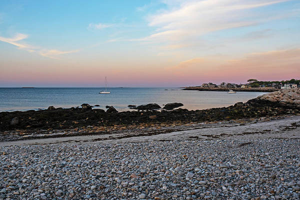 Photograph - Rockport Back Beach Sunset Rockport Ma Rocky Beach by Toby McGuire