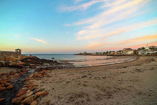 Photograph - Rockport Front Beach At Sunset Wide View Rockport Ma by Toby McGuire