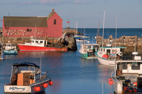 Commercial Photograph - Rockport Harbor, Cape Ann, Massachusetts by Stephen Saks