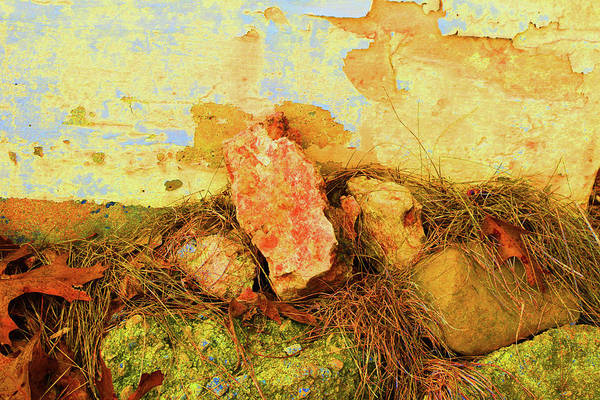 Photograph - Rocks And Wall by Alexis Baranek