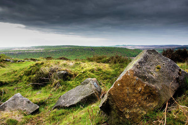 Photograph - Rocks At Baslow Edge, Derbyshire by Scott Lyons
