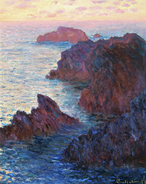 Wall Art - Painting - Rocks At Belle-isle, Port-domois - Digital Remastered Edition by Claude Monet