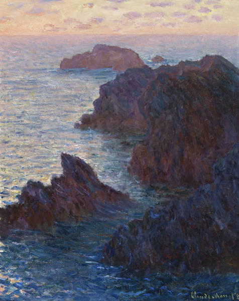 Wall Art - Painting - Rocks At Belle-lle, Port-domois, 1886 by Claude Monet