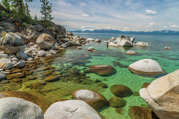Lake Tahoe Photograph - Rocks At Edge Of Lake, Lake Tahoe, Usa by Stuart Dee