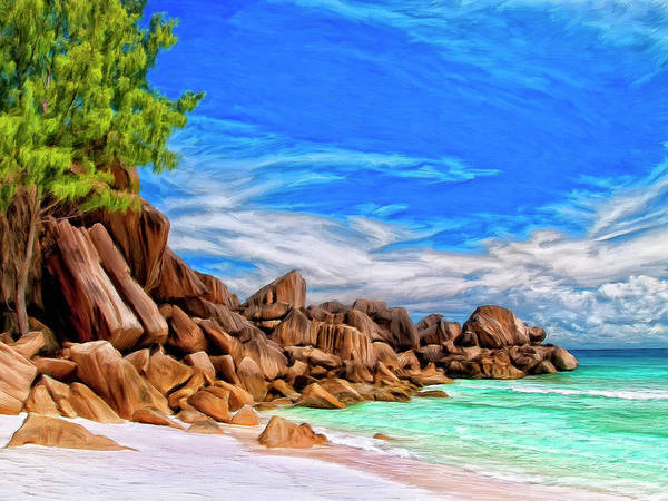 Painting - Rocks At Grand Anse Seychelles by Dominic Piperata