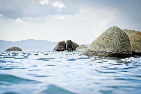 Lake Tahoe Photograph - Rocks In Lake Tahoe by Mundusimages