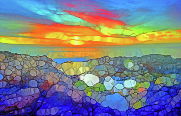 Digital Art - Rocks Like Crystals On The Shore by Tara Turner
