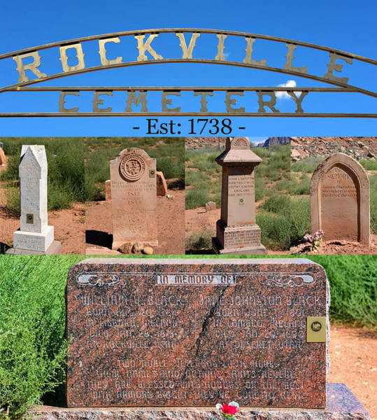 Famous Cemeteries Photograph - Rockville Utah Cemetery Work A by David Lee Thompson