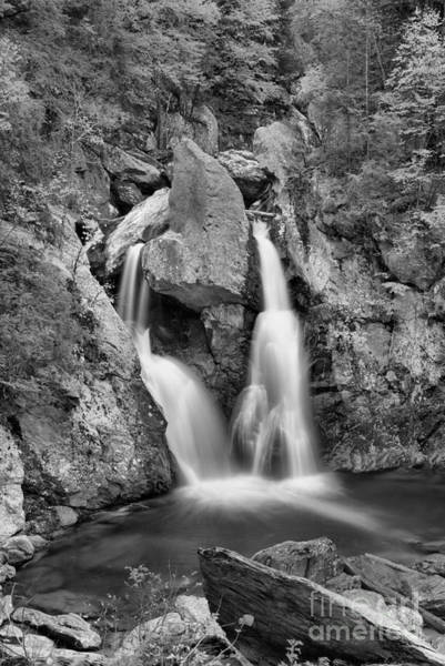 Photograph - Rocky Bash Bish Falls Black And White by Adam Jewell