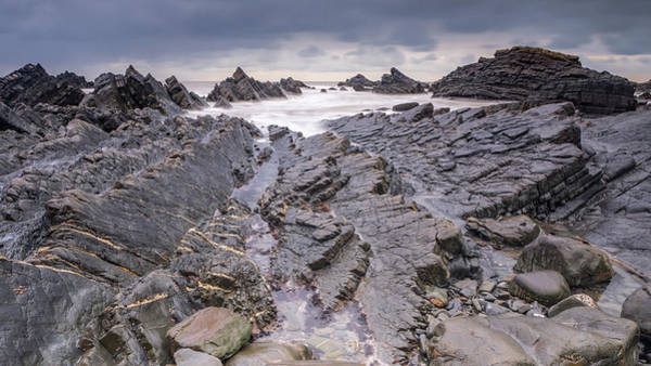 Photograph - Rocky Beach Panorama Colour by Framing Places