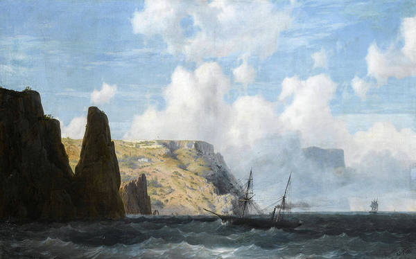 Wall Art - Painting - Rocky Cliffs, 1891 by Ivan Konstantinovich Aivazovsky