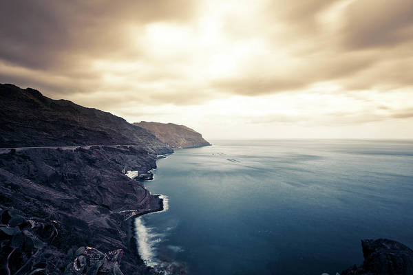 Santa Cruz Island Wall Art - Photograph - Rocky Coastline, Canary Island Seascape by Zodebala